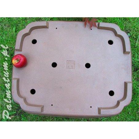 Rectangular glazed bonsai pot