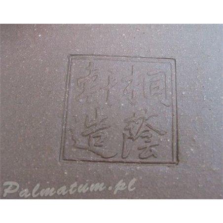 Round unglazed bonsai pot