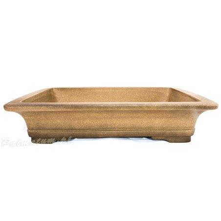 Round glazed bonsai pot