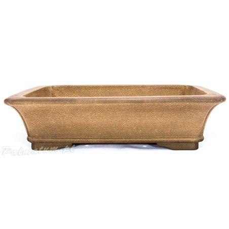 Oval glazed bonsai pot