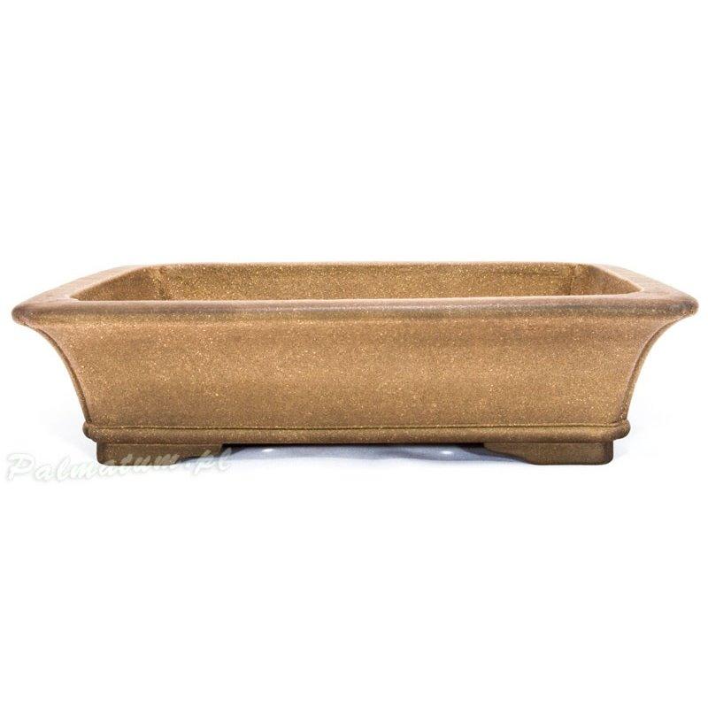 Oval glazed blue bonsai pot
