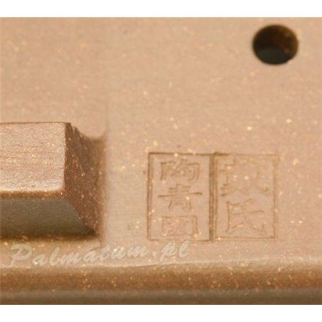 Glazed rectangular bonsai pot